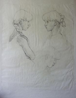 Studie portrétů sestřičky